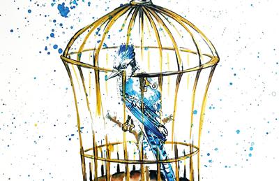 Een Blauwe Vogel